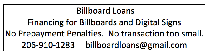 Billboard Loans black and white ad