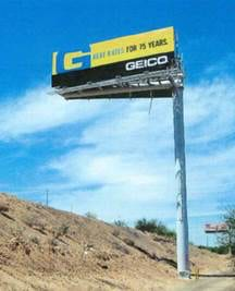 Billboard relocated to a conforming locations at a state-owned borrow pit near I-10
