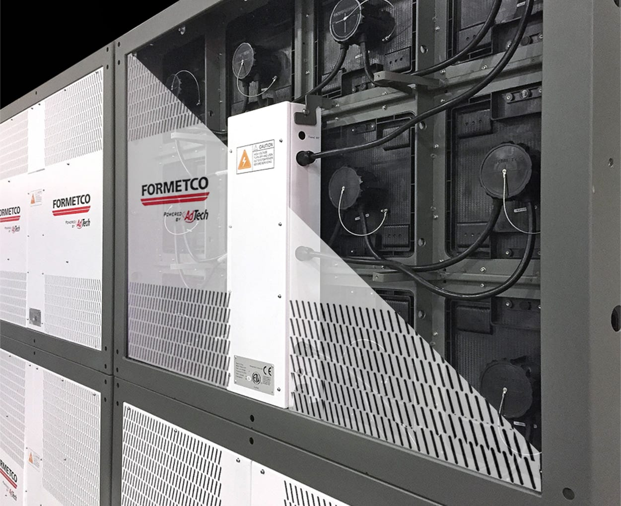 Formetco's FTX digital screens are fan less and feature 100% sealed power supply enclosures.