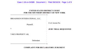 broadsign t-rex lawsuit