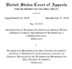 Court Supports Transit Ban on Religious Ads