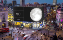 The People's Moon and Ocean Outdoor Mark the 50th Anniversary of the Moon Landing on Piccadilly Lights