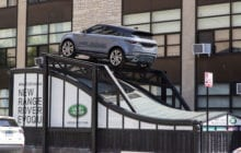 Intersection Puts Range Rover atop CTA station