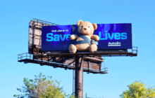 Outfront Designs 3D Teddy Bear Billboard to Promote Safety