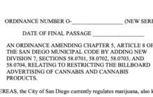 San Diego Limits Cannabis Billboard Locations