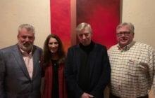 From Left: Bob Fessler (Lamar Advertising), Gail May, Bill May, Vince Miller (DDI Media)